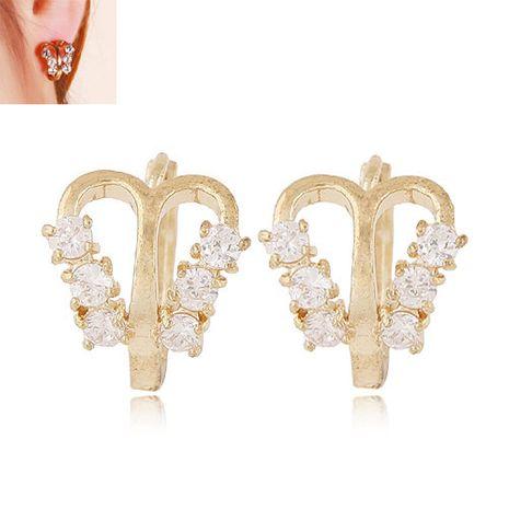 Mode coréenne Sweet OL Flash Diamond Butterfly Shape Boucles d'oreilles en gros nihaojewelry NHSC236255's discount tags