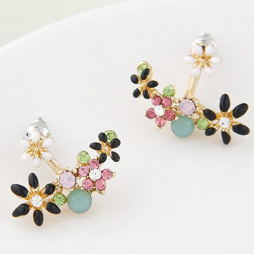 Boutique Korean fashion sweet and simple flower earrings wholesale nihaojewelry NHSC236252
