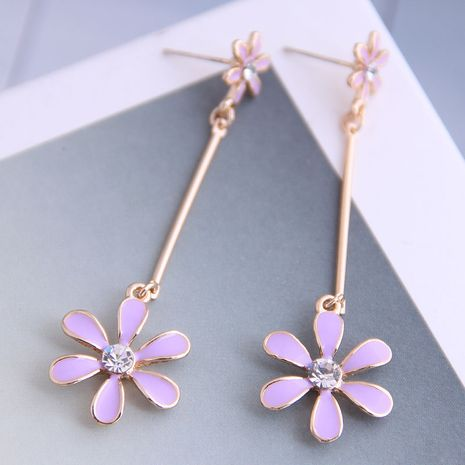 Korean fashion  sweet flowers earrings wholesale nihaojewelry NHSC236250's discount tags