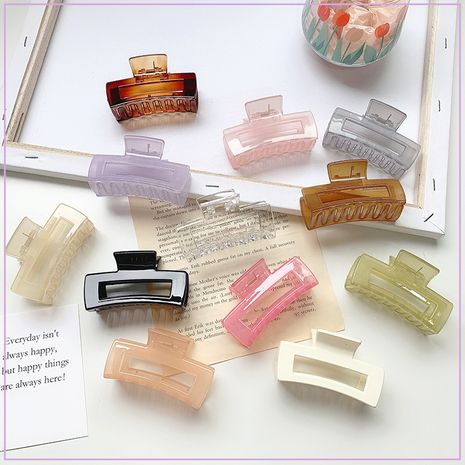 Simple transparent big clip headdress ponytail hairpin hair grabbing clip hair accessories wholesale nihaojewelry NHOF236099's discount tags