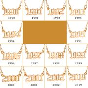 Fashion  simple  new pendant years  clavicle chain nihaojewelry  NHMO235938