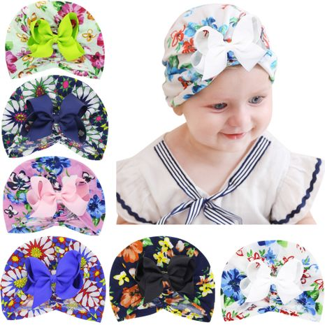Cute newborn hats baby hats print colorful hedging hats nihaojewelry NHWO236262's discount tags
