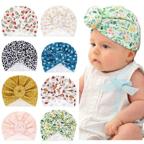 hot sale Creative fashion all-match ball new baby printing hat wholesale nihaojewelry NHWO236264's discount tags