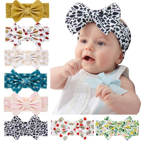 printing children's bow headband foreign trade children's jewelry wholesale baby bow headband wholesale NHWO236266's discount tags