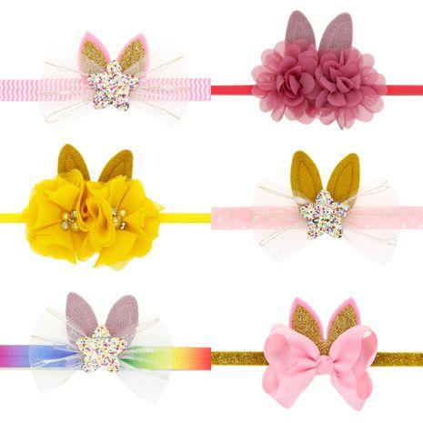 Pâques enfants décoration bandeau en gros bébé lapin bandeau décoration de vacances lapin oreilles bandeau NHWO236269's discount tags