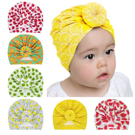 Elastic baby tire hat fruit pattern pullover hat watermelon ball beanie wholesale nihaojewelry NHWO236271's discount tags