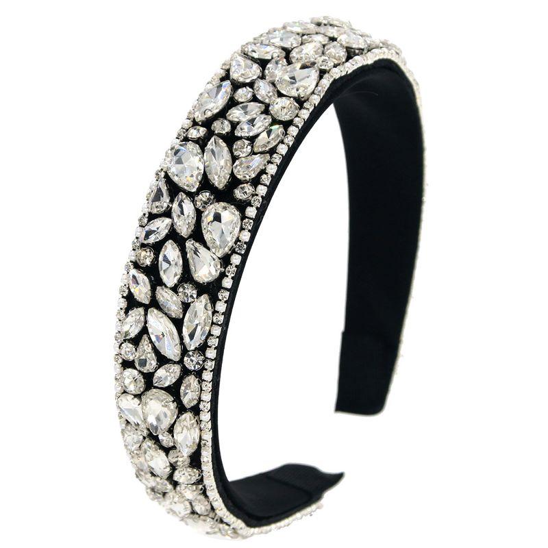 Baroque headband fashion hot sale trend hair accessories with rhinestone head buckle luxury catwalk handmade hair band nihaojewelry NHCO236279