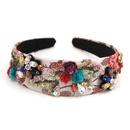 Fashion Baroque trend fivepointed star rhinestone metal headband catwalk headband hair accessories nihaojewelry NHCO236288