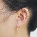 clip d39oreille semelle exagre bijoux en forme de C couleur diamant cinq branches toile oreille clip en gros nihaojewelry NHAS236304