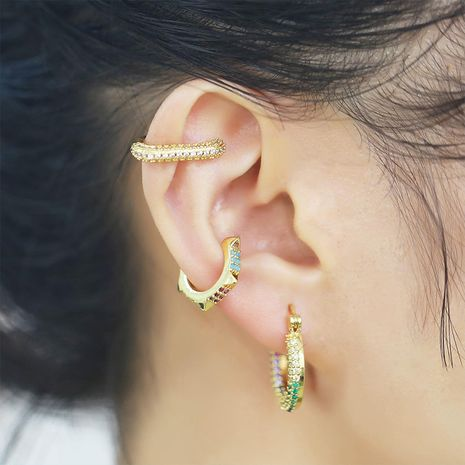 new ear clips without pierced retro jewelry simple punk earrings wholesale nihaojewelry NHAS236306's discount tags