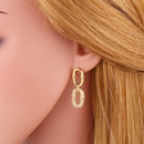 exaggerated microinlaid zircon geometric earrings copperplated real gold jewelry wholesale nihaojewelry NHAS236308