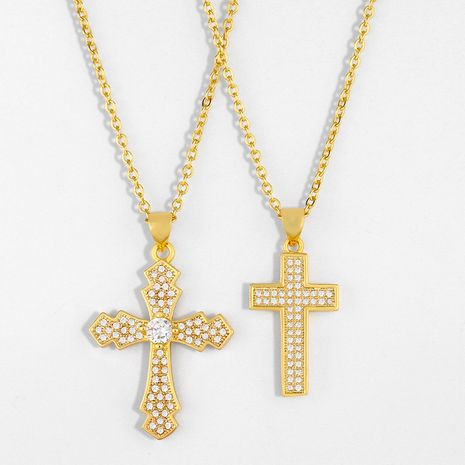 fashion cross necklace hot selling jewelry cross pendant necklace wholesale nihaojewelry NHAS236324's discount tags
