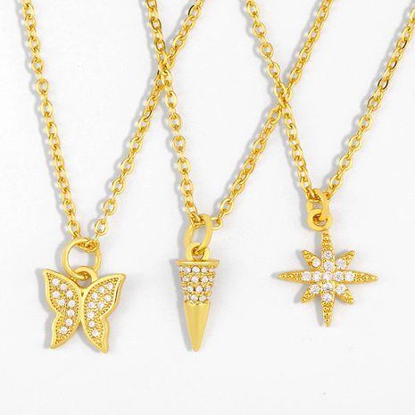 vente chaude collier coréen complet diamant papillon collier chaîne de la clavicule en gros nihaojewelry NHAS236330's discount tags
