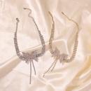 fashion full diamond bow short necklace fashion trend choker necklace jewelry hot sale wholesale nihaojewelry NHMD236345