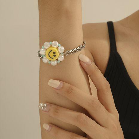Pulsera ajustable de línea de cera simple de moda para mujer, joyería creativa, pulsera de perlas retro al por mayor nihaojewelry NHXR236349's discount tags