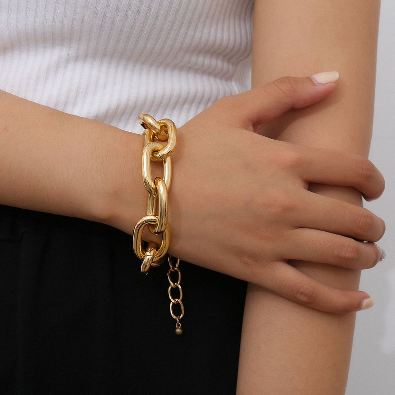 creative popular jewelry fashion simple jewelry retro ethnic style aluminum chain bracelet wholesale nihaojewelry NHXR236352