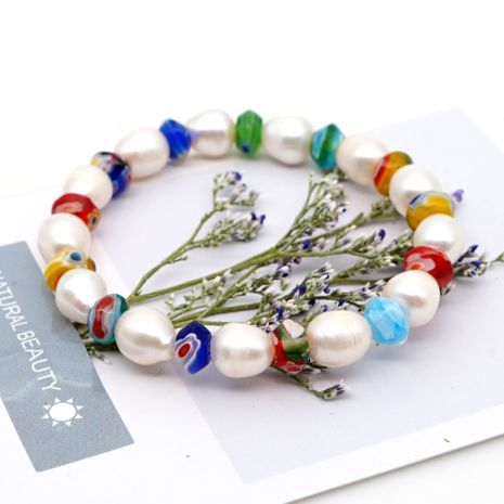 fashion baroque natural beautiful pearl glaze beads ethnic style bracelet wholesale nihaojewelry NHGW236381's discount tags