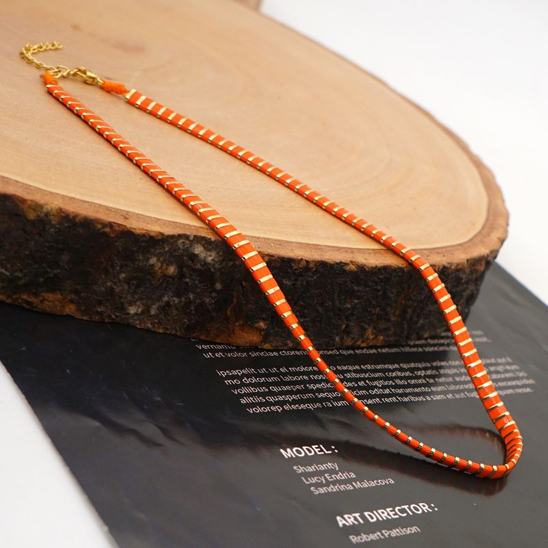 Beaded Colorful Necklace Women's Boutique Jewelry Ethnic Style Simple Necklace Jewelry wholesale nihaojewelry NHGW236398