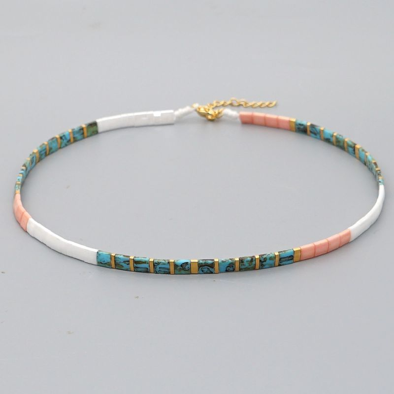 tiramis beads colorful beaded necklace simple ethnic style beaded boutique jewelry wholesale nihaojewelry NHGW236399