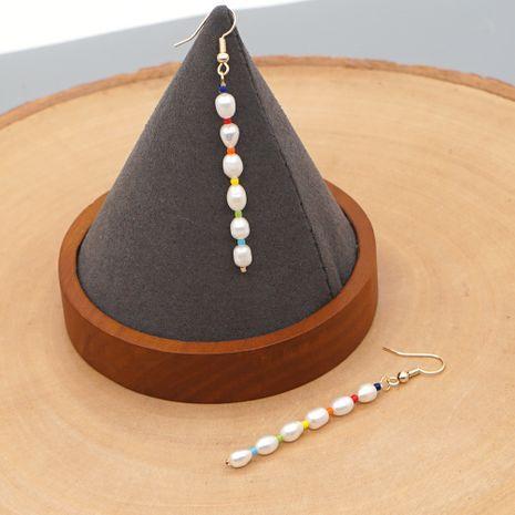 Mode style ethnique tendance all-match boucles d'oreilles en or perle d'eau douce longue grande boucle d'oreille femmes nihaojewelry NHGW236424's discount tags
