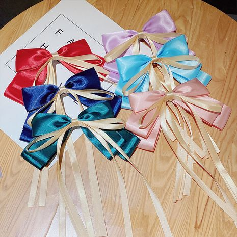 All-match the ribbon big bow hairpin top clip hairpin clip hair accessories clip headdress wholesale nihaojewelry NHNA236449's discount tags