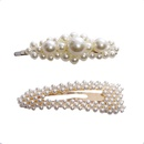 Pearl hair clip fashion set jewelry bangs clip hairpin Korean clip hair accessories wholesale nihaojewelry NHNA236456