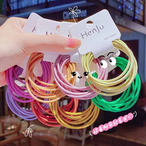 Candy-colored basic hair rope handmade hair accessories tie hair elastic band high elasticity hair rope wholesale nihaojewelrywholesale nihaojewelry NHNA236465's discount tags