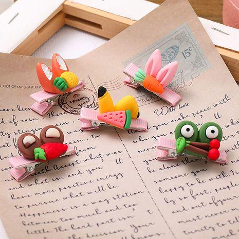 Cute children's fabric hair clip fashion duckbill clip creative fruit three-dimensional hairpin baby hair clip bangs clip side clip wholesale NHNA236466's discount tags