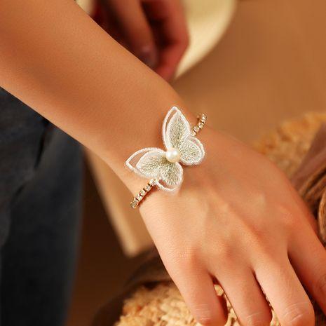 joyería súper bosque de hadas bordado pequeña mariposa pulsera pulsera de perlas de diamantes al por mayor nihaojewelry NHNZ236491's discount tags