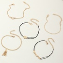 fashion jewelry multipiece alloy chain pendant bracelet fashion anklet bracelet wholesale nihaojewelry NHNZ236497