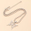 jewelry metal round bead chain choker butterfly necklace wholesale nihaojewelry NHNZ236502