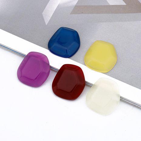 nouveau bricolage couleur bonbon résine nature pierre pendentif boucles d'oreilles accessoires bijoux faits à la main en gros nihaojewelry NHGO236515's discount tags