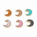 new products DIY single ring resin accessories handmade moon jewelry accessories imitation natural stone wholesale nihaojewelry NHGO236517