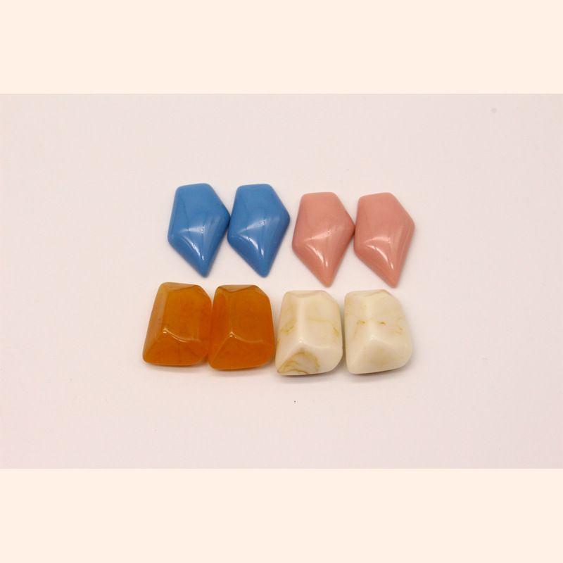 new DIY candy resin pendant earrings accessories handmade jewelry irregular imitation natural stone wholesale nihaojewelry NHGO236519