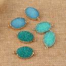 new jewelry resin oval hanging earrings Diy bracelet accessories wholesale nihaojewelry NHGO236521