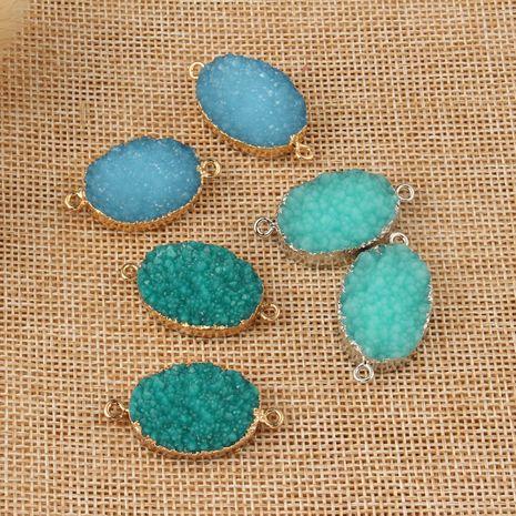 nouveaux bijoux en résine boucles d'oreilles suspendues ovales accessoires de bracelet bricolage en gros nihaojewelry NHGO236521's discount tags