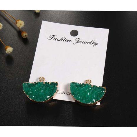 nouveaux bijoux pastèque demi-cercle pendentif en résine bricolage boucles d'oreilles collier pendentif accessoires faits à la main en gros nihaojewelry NHGO236522's discount tags