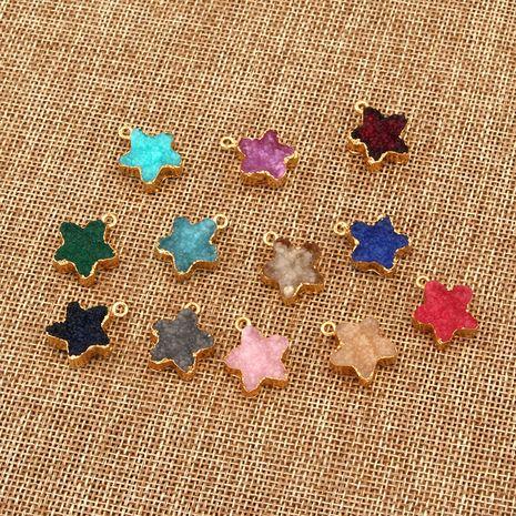 nouveaux produits bricolage résine à la main petites étoiles simples suspendus double bijoux imitation pierre naturelle en gros nihaojewelry NHGO236523's discount tags
