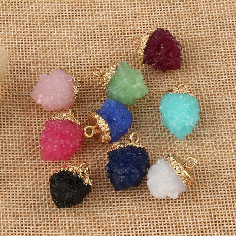 nouveaux bijoux pendentif en résine irrégulière bricolage boucles d'oreilles collier pendentif accessoires faits à la main en gros nihaojewelry NHGO236527's discount tags