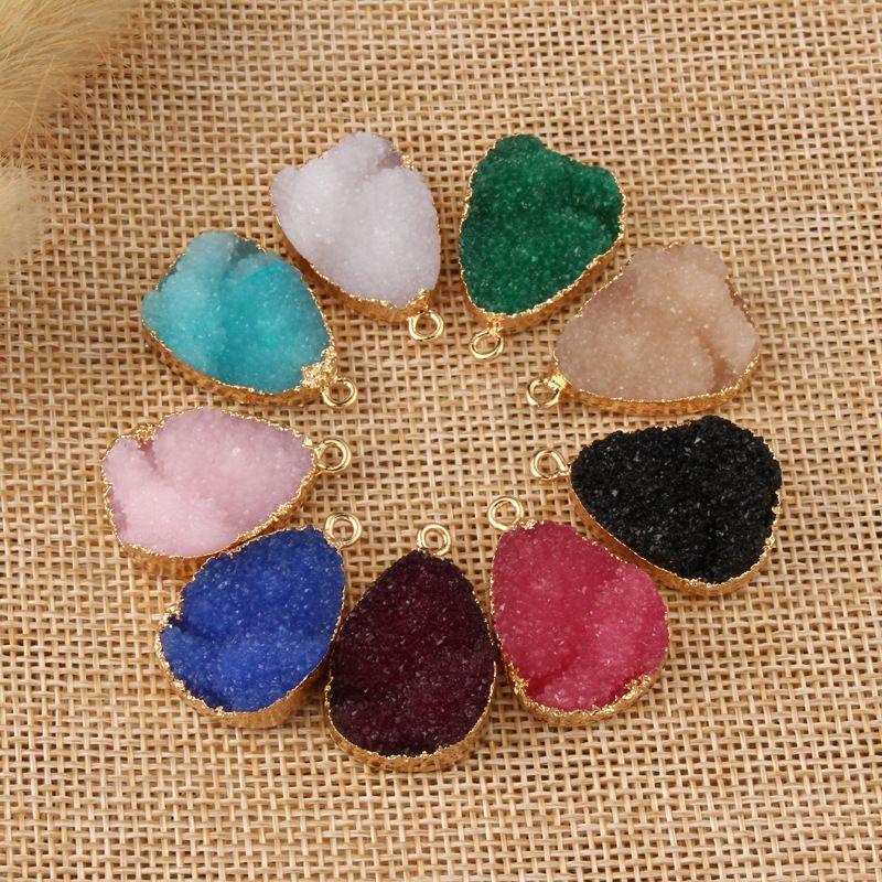 new jewelry water drop resin hanging earrings Diy bracelet accessories wholesale nihaojewelry NHGO236528