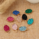 new jewelry geometric resin oval pendant Diy necklace earrings pendant handmade accessories wholesale nihaojewelry NHGO236529