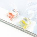new jewelry imitation natural stone transparent water bag pendant accessories retro resin fish pendant wholesale nihaojewelry NHGO236533