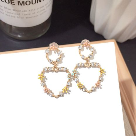 Fashion simple all-match love shape women earring alloy earring silver earrings wholesale nihaojewelry NHFT236545's discount tags