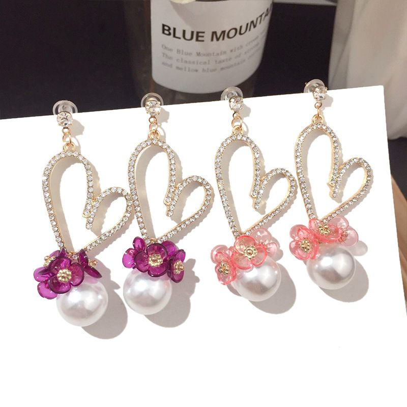 Fashion simple heart earrings women earring silver earring silver needle earrings nihaojewelry NHFT236546
