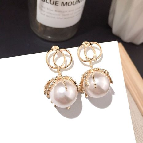 Classic fashion popular pearl earrings trend earrings wild silver needle earrings nihaojewelry NHFT236563's discount tags