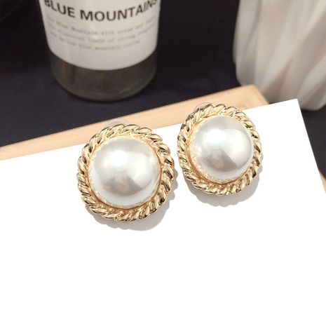 Korea pearl earrings fashion wild earrings simple trend earrings silver needle earrings women nihaojewelry NHFT236565's discount tags