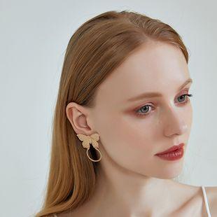 new 925 silver needle earrings small fragrance alloy geometric earrings sweet butterfly earrings batch wholesale nihaojewelry NHOA236587's discount tags