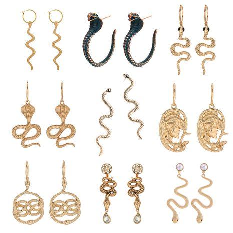 Fashion trend especial all-match earrings  snake-shaped earrings long snake earrings wholesale nihaojewelry NHOA236593's discount tags