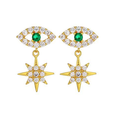 Fashion exquisite trend Demon Eye Earrings Snowflake Diamond Stud Earrings Star Short Earrings nihaojewelry NHOA236602's discount tags