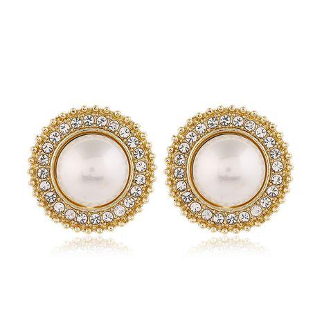 925 boucles d'oreilles en argent à la mode simples et polyvalentes boucles d'oreilles de forme géométrique de perles de diamant flash pour les femmes nihaojewelry NHSC236991's discount tags